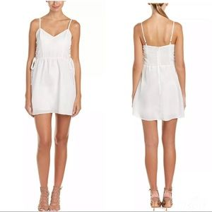 Parker | Penelope White Side Lace-up Mini Dress